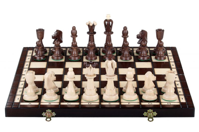 ACE CHESS SET BROWN