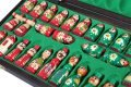 BABUSHKA CHESS SET GREEN/RED
