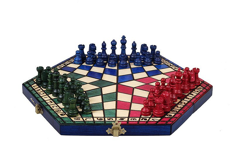 3 – PLAYER CHESS IN RED/BLUE/GREEN