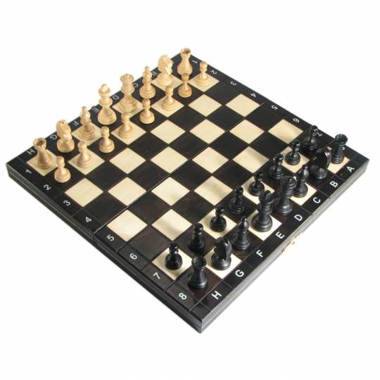 """THE MAGNETIC CHESS """"140S"""" BLACK"""
